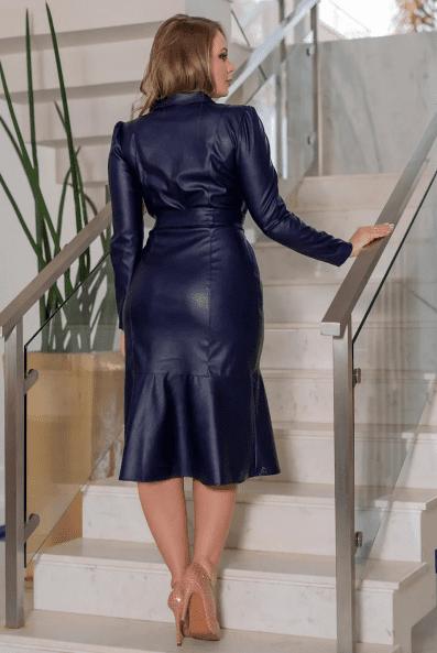 Chemisier Em Couro Ecológico - Moda Evangélica Kauly (3119 E)