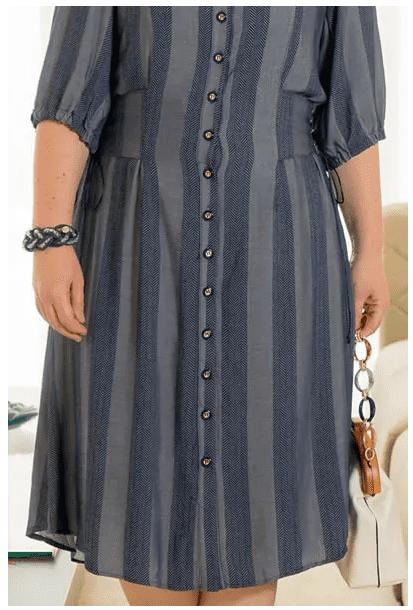Chemisier Em Viscose Plus Size - Moda Evangélica (2933 T)
