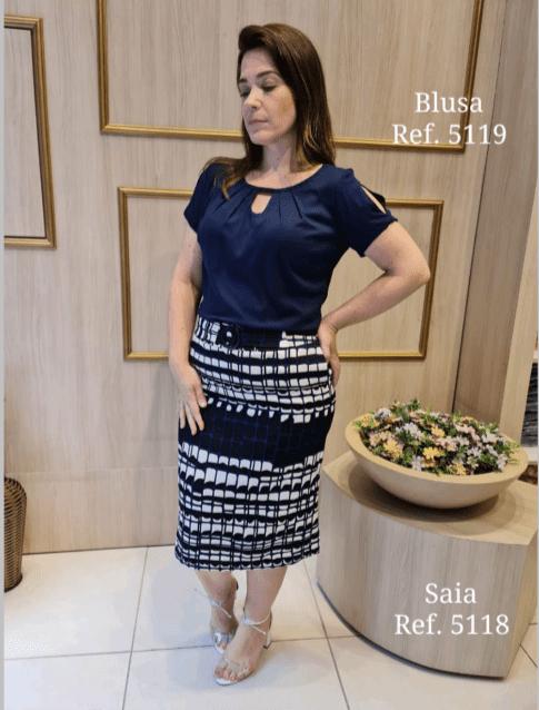 Cj Blusa + Saia - Moda Evangélica Cechiq  (5119-5118 T)
