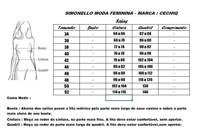 CJ Camisa Crepe Seda + Saia - Moda Evangélica Cechiq (5139-5108 T)