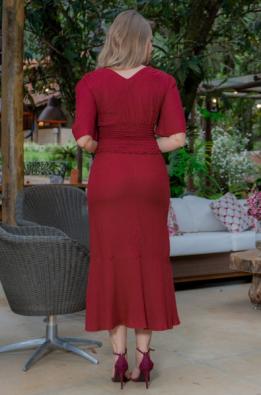 Cj Cropped+Saia Linho - Moda Evangélica Kauly (3195-3196 E)