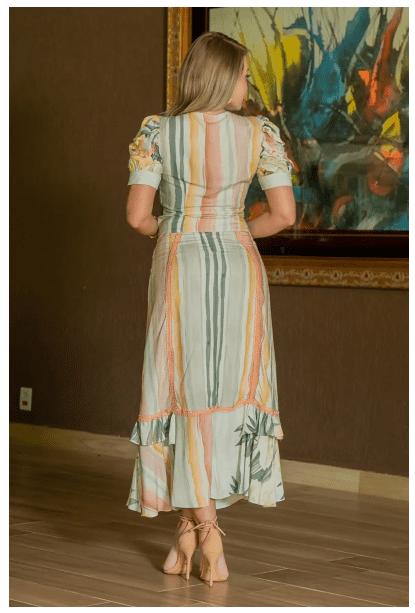 Cj Cropped+Saia Viscose - Moda Evangélica Kauly - (3011-3012 E)