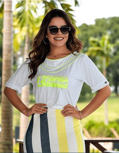 Conj T-Shirt + Saia Malha - Moda Evangélica Luciana Pais (92415-92816 T)