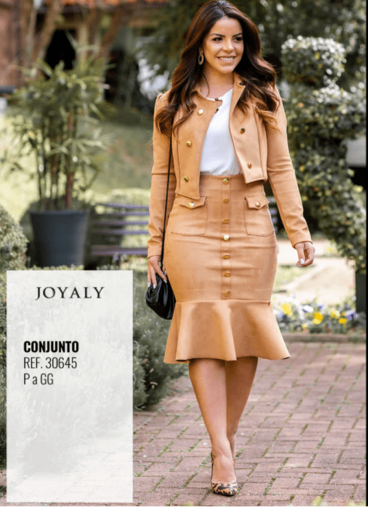 Conjunto Em Suede Mandy - Lançamento Joyaly (30645 E)