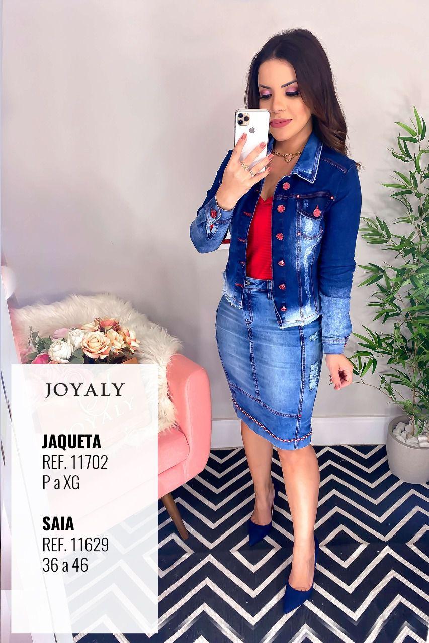 Jaqueta Jeans Com Det. Botões - Lançamento Joyaly (11702 T)