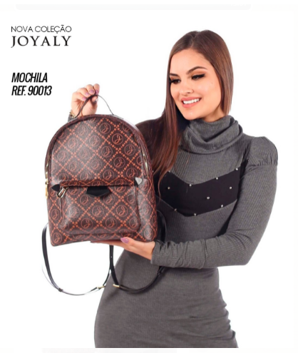 Mochila Em Sintético C Silk Logo - Moda Evangélica Joyaly (90013 T)