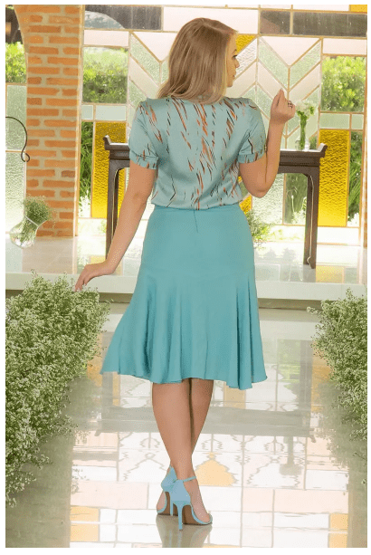 Body Camisa em Seda - Moda Evangélica Kauly (2997 E)