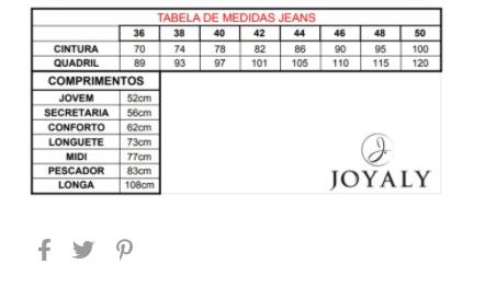 Saia Jeans Bordada - Moda Evangélica Joyaly (11868 E)