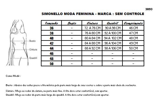 Saia Jeans Bordado bolso e Flor Lateral - Sem Controle (3093 E)