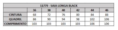 Saia Longa Black - Moda Evangélica Lançamento Joyaly (11779 T)