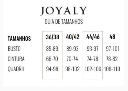 Saia Longuete Em Sarja Stef - Lançamento Joyaly (11312 T)