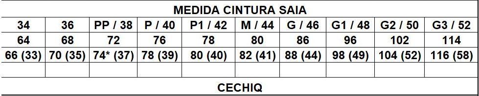 Saia Alfaiataria Justa - Cechiq (4646 E)