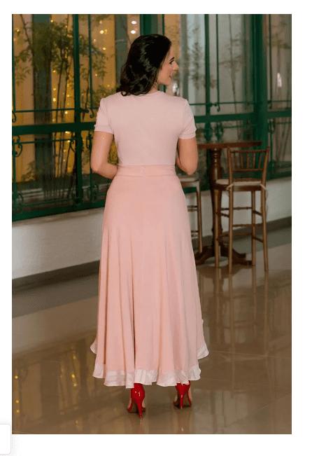 Saia Mullet Viscolinho - Moda Evangélica Luciana Pais (92924 E)