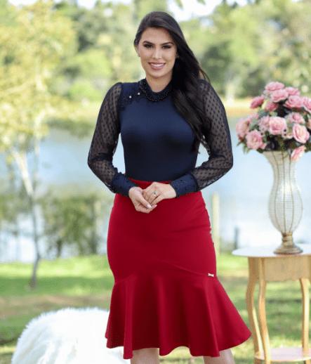Saia Peplum - Moda Evangélica Maria Amore (2901 E)