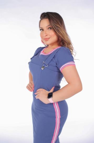 Cj Salopete + Blusa - Moda Evangélica Joyaly (70048 E)