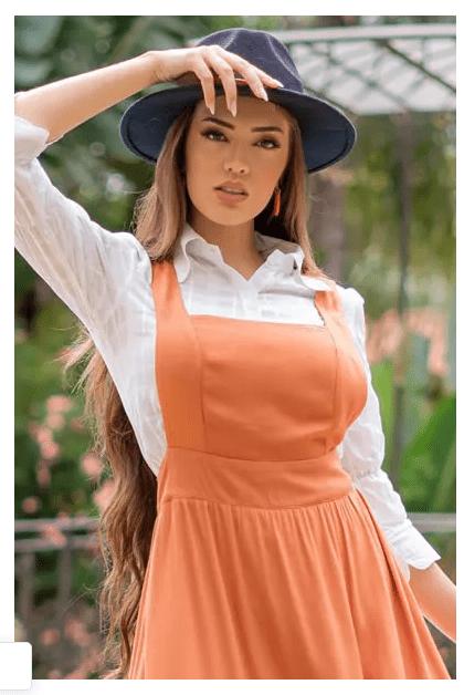 Salopete Em Viscose - Moda Evangélica Luciana Pais (92998 T)