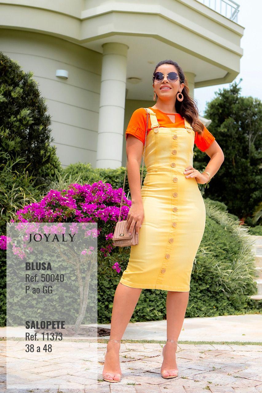 Salopete Verano Moda Evangélica Lançto Joyaly 2019 (11373)
