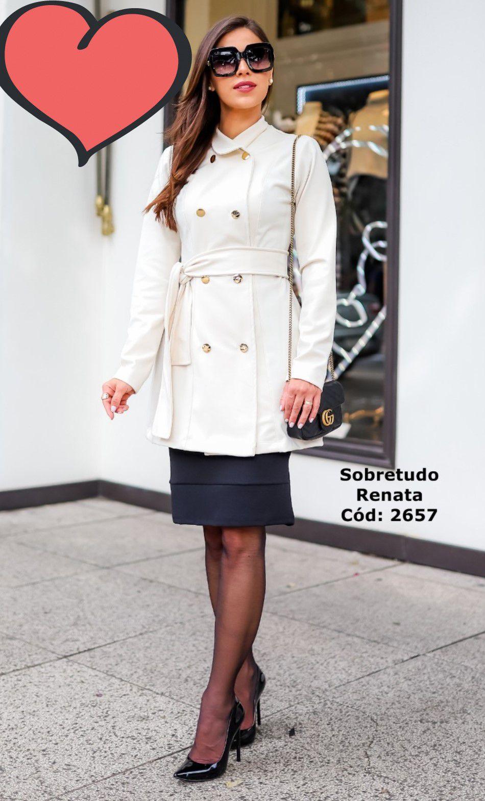 SOBRETUDO C/ FAIXA NA CINTURA - MARIA AMORE  (2657)