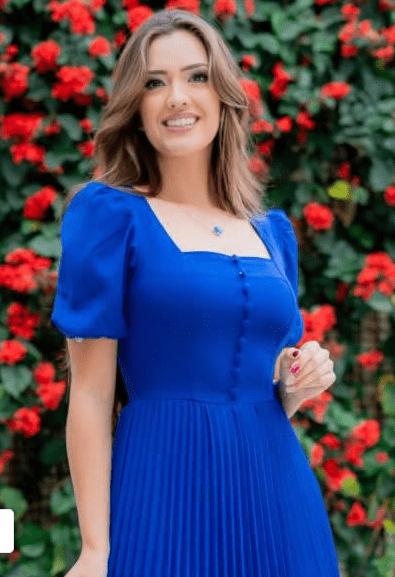 Vestido Alfaiataria Plissado - Moda Evangélica Luciana Pais (93105 E)