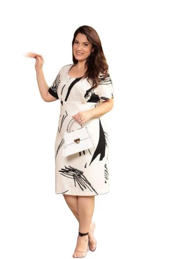 Vestido Alfaiataria Valentino - Moda Evangélica Cechiq (5254 E)