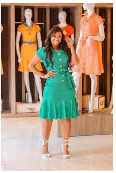Vestido Bengaline Verde - Joyaly (30280 E)