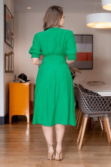 Vestido Cambraia C Cinto Faixa - Moda Evangélica Kauly (3146 T)