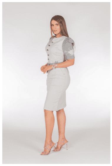 Vestido Charm C Cinto Faixa - Moda Evangélica Joyaly (11760 E)