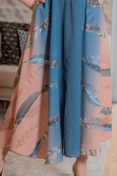 Vestido Crepe C Botões Frontais - Moda Evangélica (3143 T)