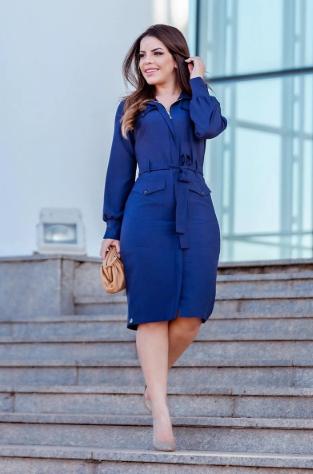 Vestido Crepe Twill - Moda Evangélica Kauly (2843 T)