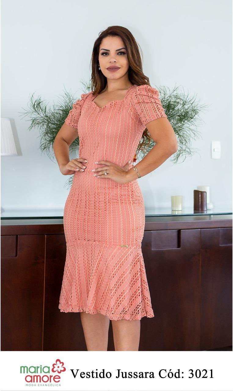 Vestido De Renda - Moda Evangélica Maria Amore (3021 E)