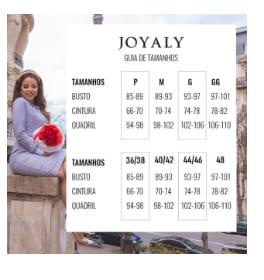 Vestido Decote C Babadinho - Moda Evangélica Joyaly (30958 T)