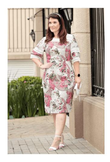 Vestido Detalhe em Renda Plus - Kauly (2734 E)