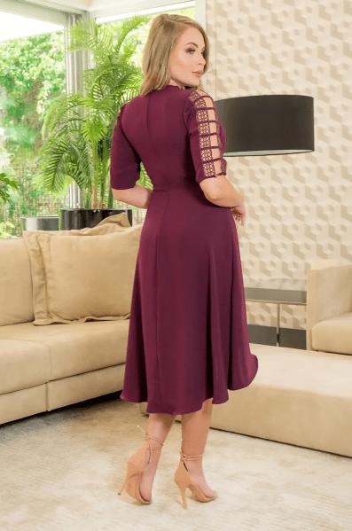 Vestido Em Alfaiataria - Moda Evangélica Kauly (2943 T)