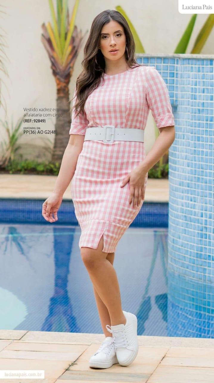 Vestido Em Alfaiataria - Moda Evangélica Luciana Pais (92849 T)