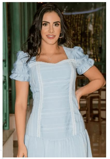 Vestido Em Camisaria - Moda Evangélica Luciana Pais (92915 T)