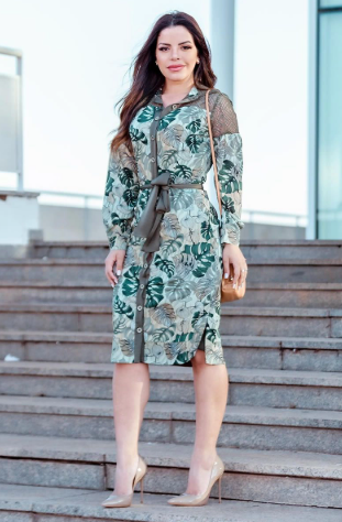 Vestido Em Crepe de Seda - Lançamento Kauly (2836 T)