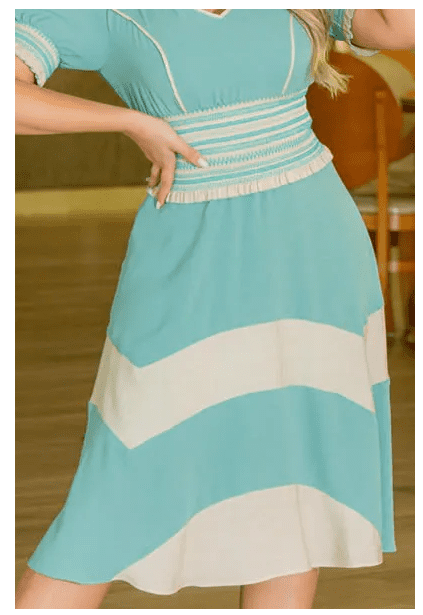 Vestido Em Crepe Color - Moda Evangélica Kauly (3010 E)
