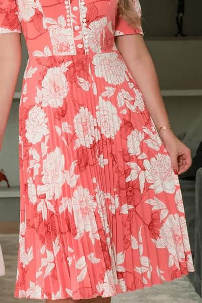 Vestido Em Crepe Plissado - Moda Evangélica Kauly (2954 E)