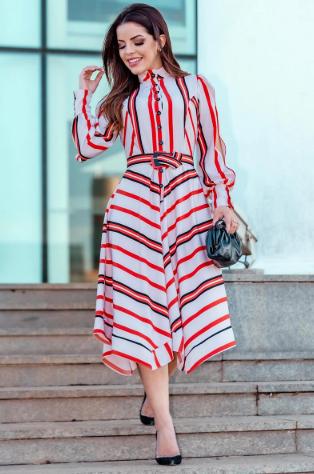 Vestido Em Crepe Twill - Lançamento Kauly (2834 T)