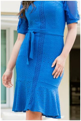 Vestido Em Laise - Moda Evangélica Lançamento Luciana Pais (92839 E)