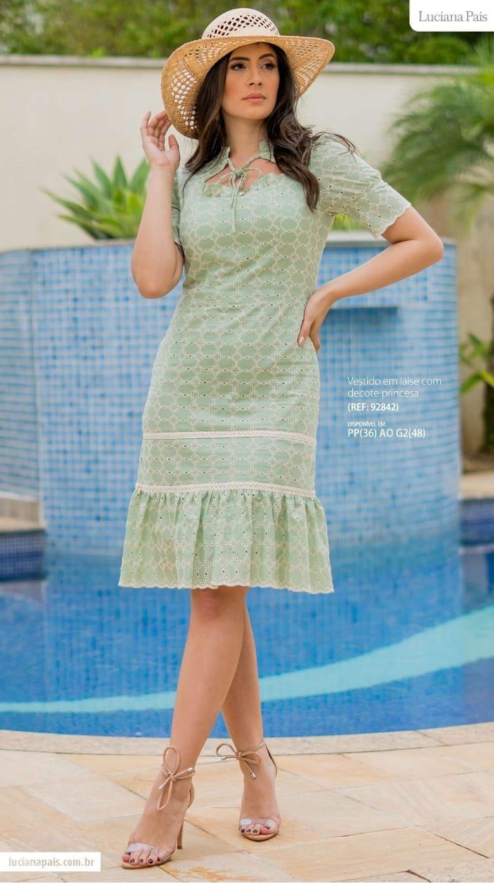 Vestido Em Laise - Moda Evangélica Luciana Pais (92842 E)