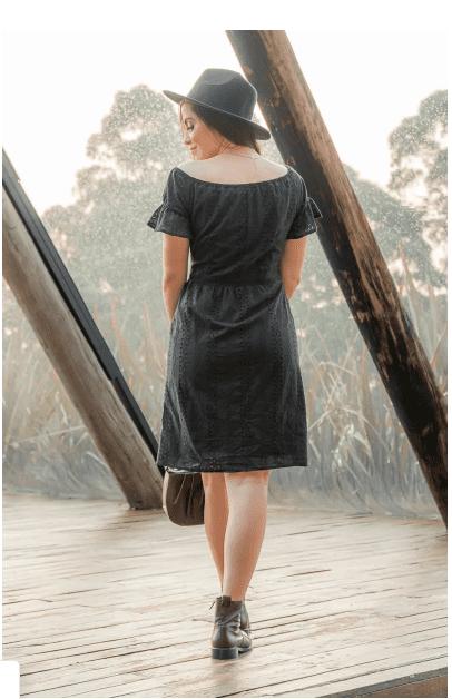 Vestido Em Laise - Moda Evangélica Luciana Pais (93015 T)