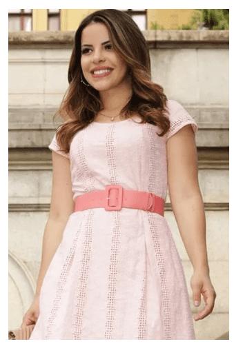 Vestido Em Lasie - Moda Evangélica Luciana Pais  (92510 E)