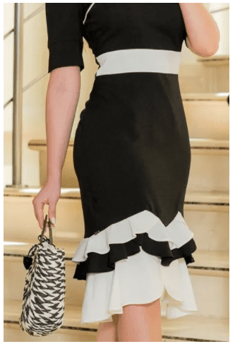 Vestido Em Linho - Moda Evangélica  Kauly (2914 E)