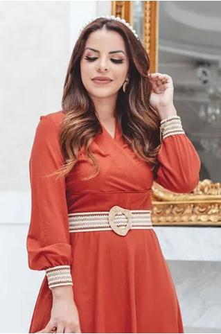 Vestido Em Malha Rayon - Lançamento Kauly (2817 T)