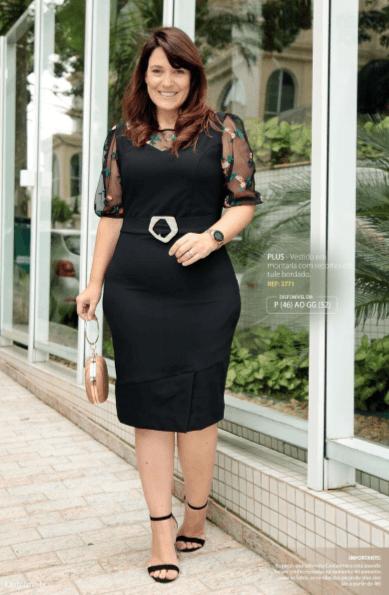 Vestido Em Montaria - Moda Evangélica Kauly (2771 E)