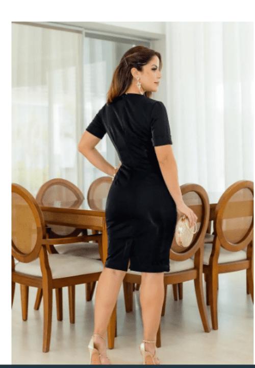 Vestido Em Montaria- Moda Evangélica Lançamento Kauly (2785)