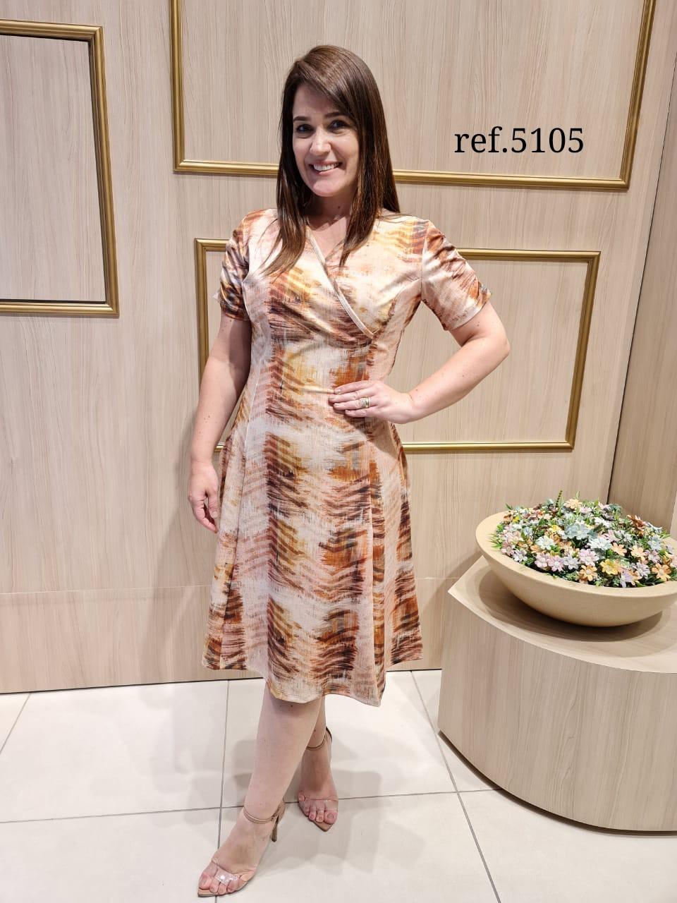 Vestido Em Neoprene - Moda Evangélica Cechiq (5105 T)