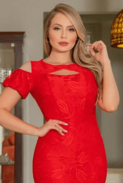 Vestido Em Renda - Moda Evangélica Kauly (3034 T)