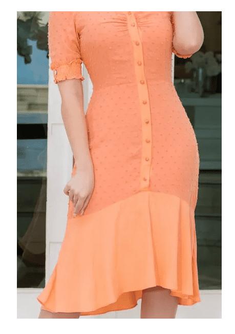 Vestido Em Viscolinho - Moda Evangélica Kauly (2903 E)